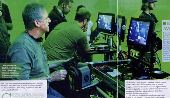 James Cameron working on Avatar