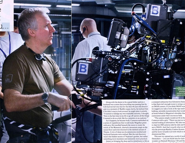 James Cameron working on Avatar