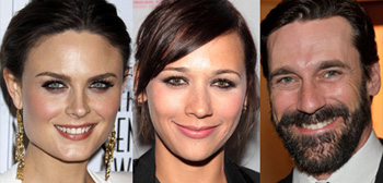 Emily Deschanel, Rashida Jones, Jon Hamm