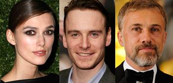 Keira Knightley, Michael Fassbender, Christoph Waltz