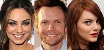 Joel McHale, Mila Kunis, Emma Stone