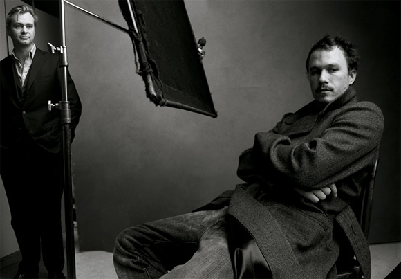 Christopher Nolan and Heath Ledger