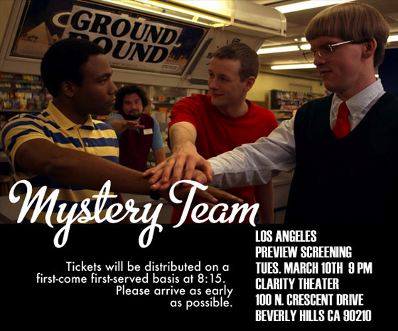 Mystery Team NYC Preview Screenings