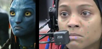 Zoe Saldana Side-by-Side Avatar