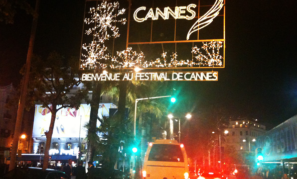 Cannes Film Festival - Nighttime Sign