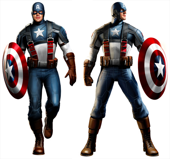 Chris Evans as Captain America Concept Art
