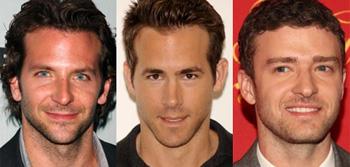 Bradley Cooper, Ryan Reynolds, Justin Timberlake