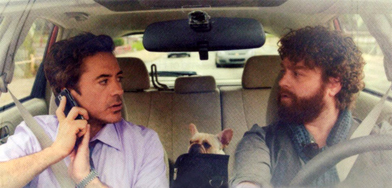 Robert Downey Jr. & Zach Galifianakis in Due Date