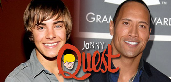 Zac Efron and Dwayne Johnson in Jonny Quest