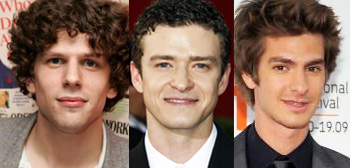 Jesse Eisenberg, Justin Timberlake, Andrew Garfield
