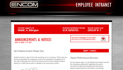Encom Employee Intranet