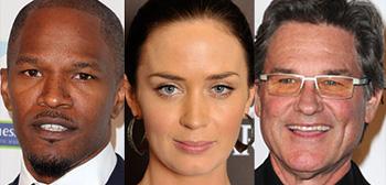 Jamie Foxx, Emily Blunt, Kurt Russell