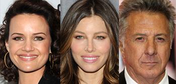 Carla Gugino, Jessica Biel, Dustin Hoffman