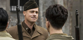 Brad Pitt in Quentin Tarantino's Inglourious Basterds