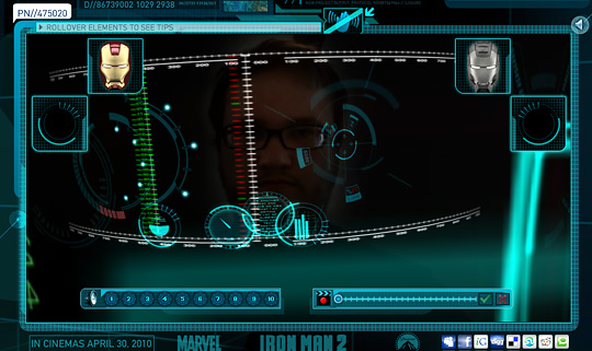 Iron Man 2 Augmented Reality HUD Display