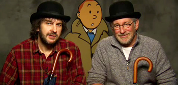 Steven Spielberg and Peter Jackson Talk Tintin with Top Hats