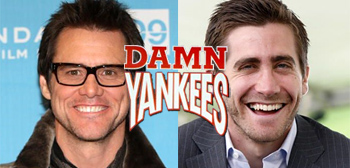 Jake Gyllenhaal and Jim Carrey Singing in Damn Yankees