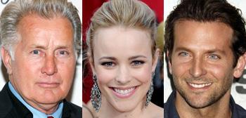 Martin Sheen, Rachel McAdams, Bradley Cooper
