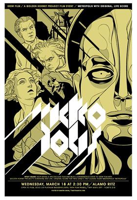 Mondo Tee's Metropolis Poster - Gold