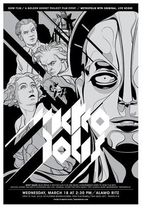 Mondo Tee's Metropolis Poster - Silver