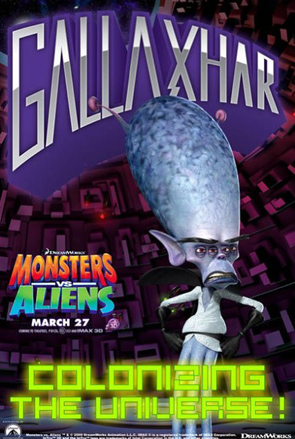 Monsters vs Aliens Poster - Gallaxhar