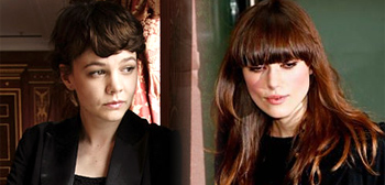 Carey Mulligan (L) and Keira Knightley (R)