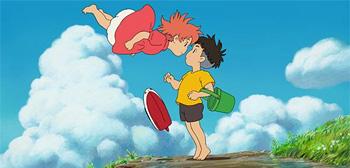 Hayao Miyazaki's Ponyo on the Cliff Poster