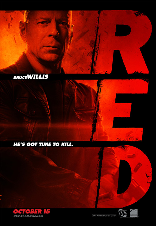 Bruce Willis' RED Poster