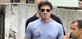 First Photos of Sly Stallone in Action on The Expendables