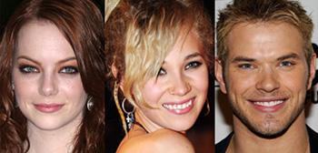 Emma Stone, Juno Temple, Kellan Lutz