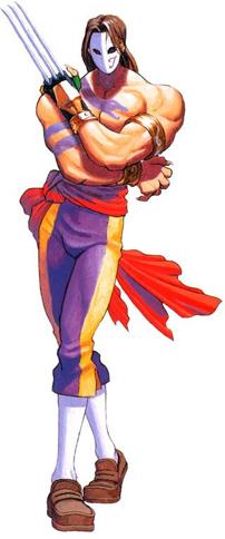 Vega in Street Fighter