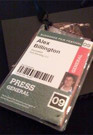 Alex Billington Press Badge