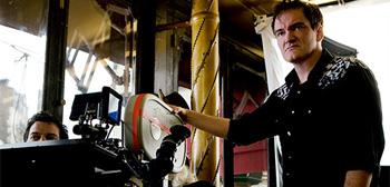 Quentin Tarantino Filming Inglourious Basterds