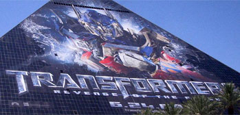 Transformers 2 Luxor Hotel Advertisement