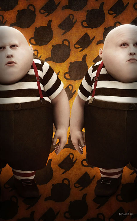 Tweedledee and Tweedledum - Tim Burton's Alice in Wonderland