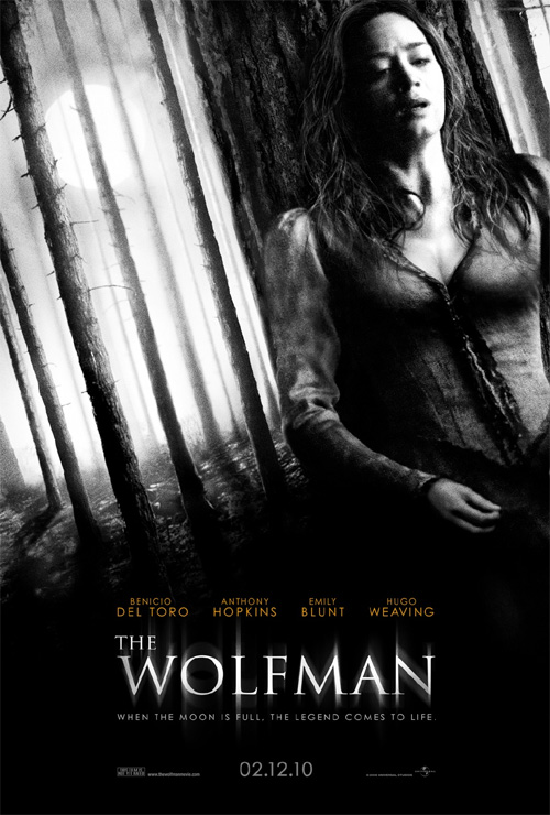 The Wolfman Poster - Emily Blunt