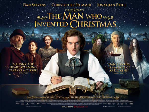 The Man Who Invented Christmas UK Poster