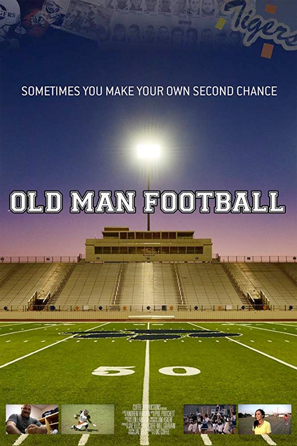 Old Man Football Poster