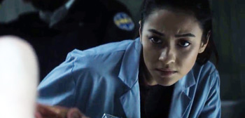Shay Mitchell in Trailer for Horror 'The Possession of Hannah Grace'