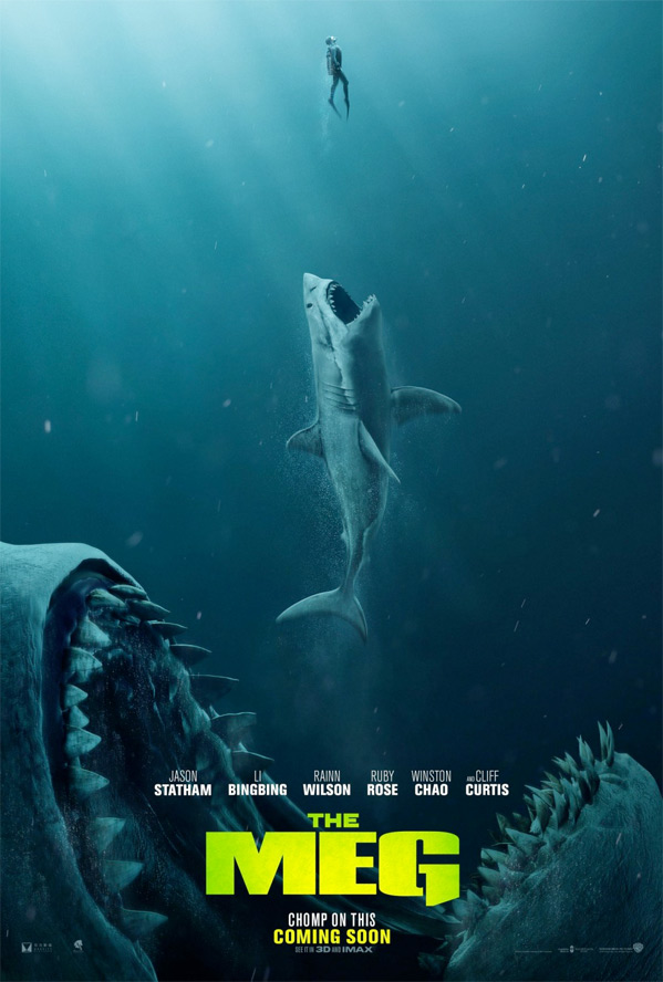First Trailers for Giant Shark Movie 'The Meg' Starring Jason Statham | FirstShowing.net