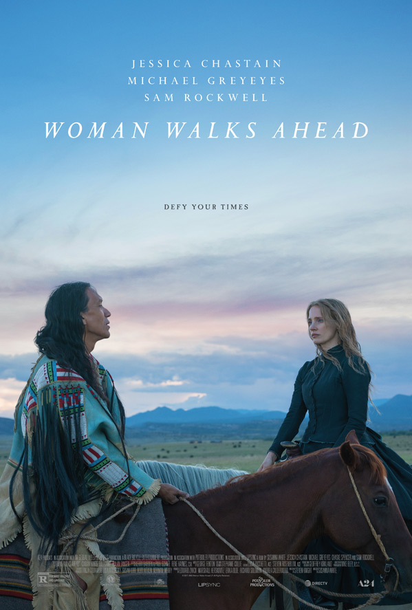 Woman Walks Ahead Poster