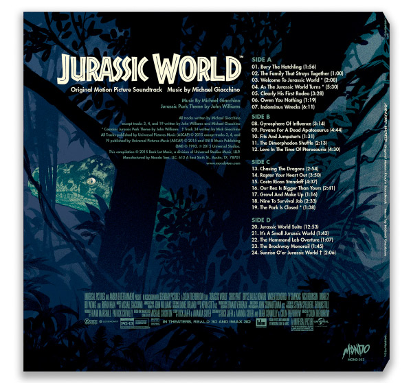 Mondo's Jurassic World Vinyl Soundtrack