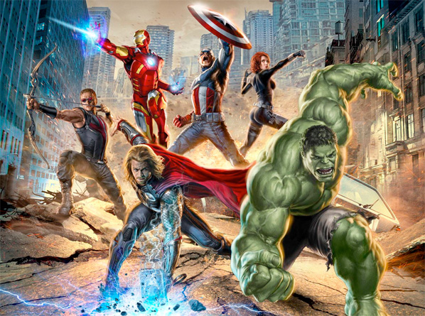 The Avengers Concept Art - Team Shot 2