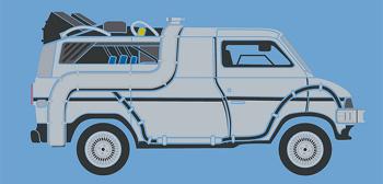 DeLorean Time Machine Van