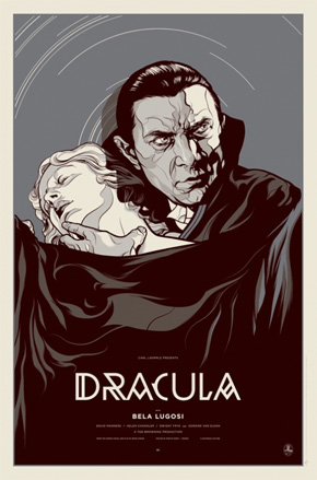 Dracula - Mondo Black and White Poster