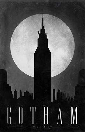 Justin Van Genderen - Travel Poster - Gotham City