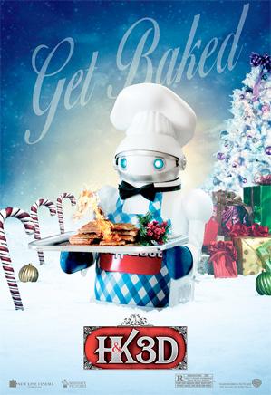 A Very Harold & Kumar Christmas - Wafflebot Poster