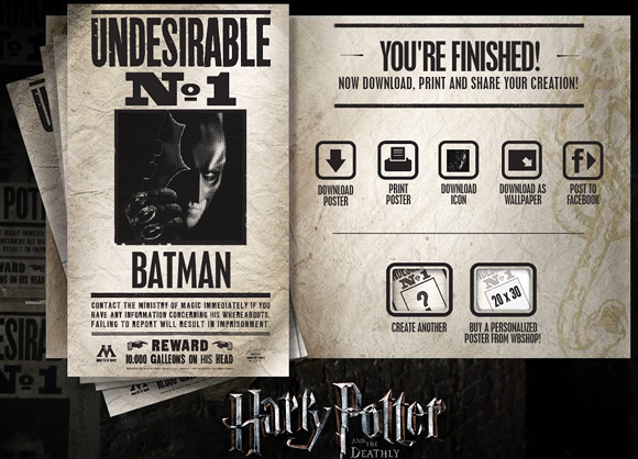 Undesirable No.1 - Harry Potter Website