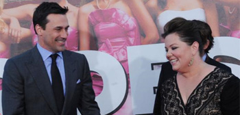 Jon Hamm and Melissa McCarthy