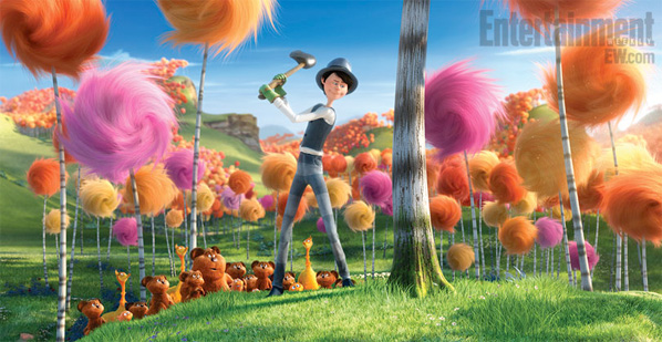 The Lorax First Look - Truffula Trees